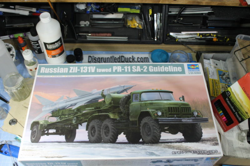 Russian ZII-131V towed PR-11 SA-2 Guideline Scale Model By Trumpeter