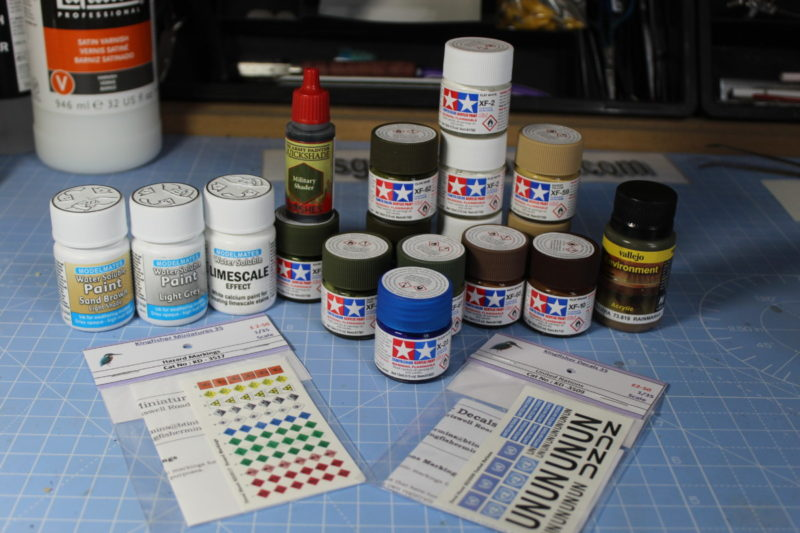 Some New Tamiya Paints And Washes And Decals.