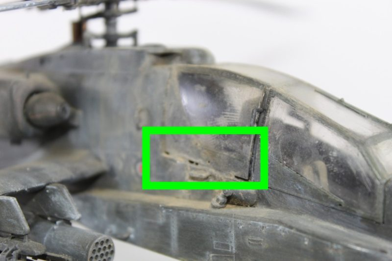 Gaps On The Cockpit Canopy On The scale model helicopter