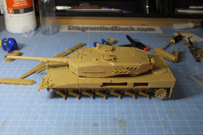 Test Fitting The Turret And Hull Of The Leopard 2 Scale Model