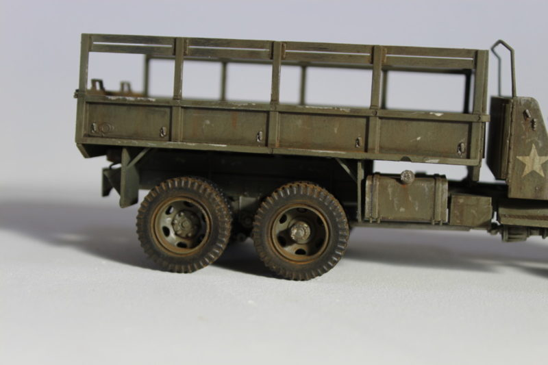 United States Second World War Cargo Truck Model Rear Wheels And Flatbed.