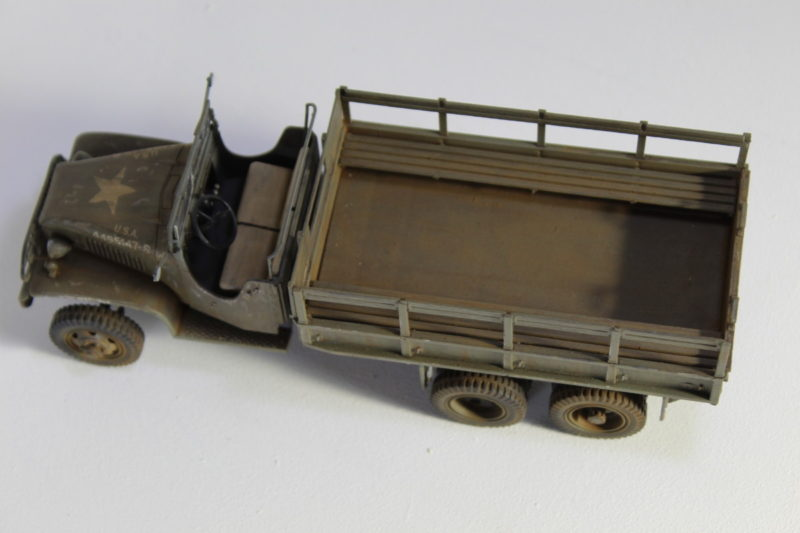 6x6 Cargo Truck Model Showing The Flat Bed Cargo Area