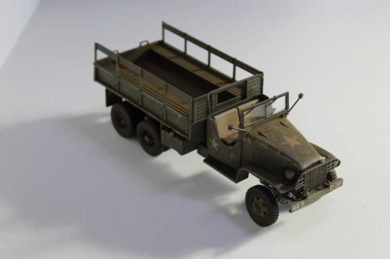 6x6 Cargo Truck Model Photographed From Above