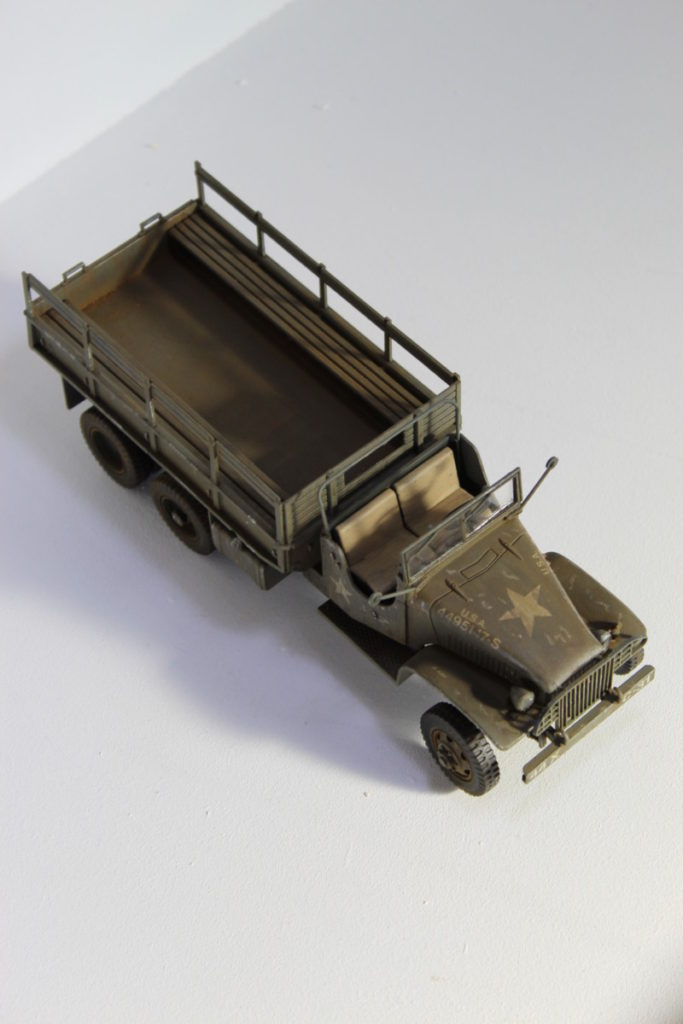 Scale Model GMC Cargo Truck From Above