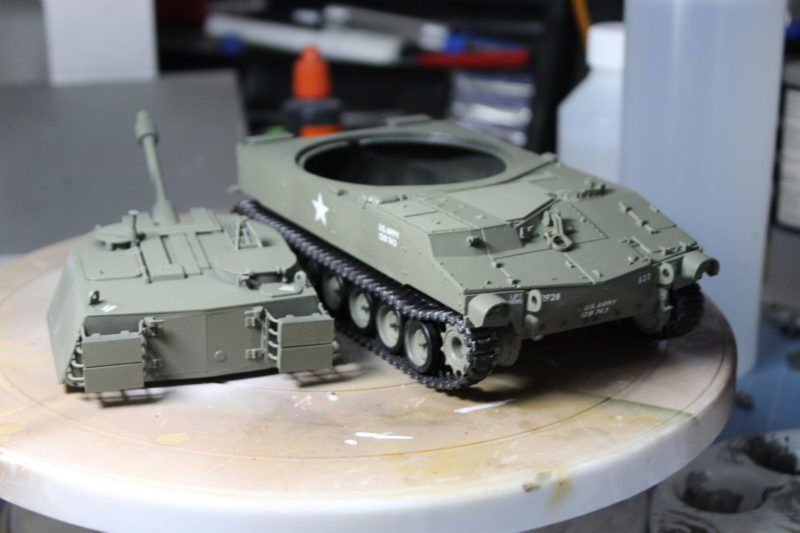 The Scale Model M-108 Had Been Gloss Varnished Ready For Weathering
