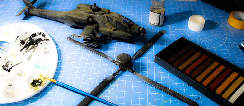 Weathering The Model Apache Helicopter