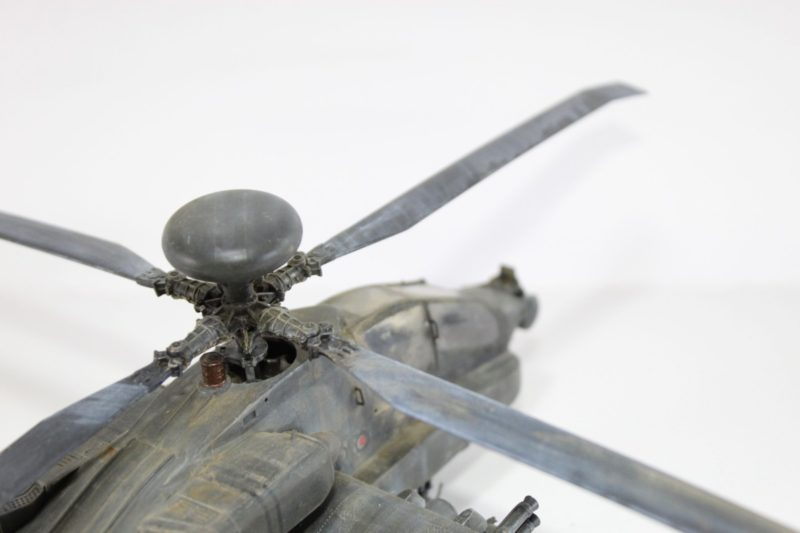 Close Up Detail Work On The Main Propeller. Of The 1/48 academy Apache longbow