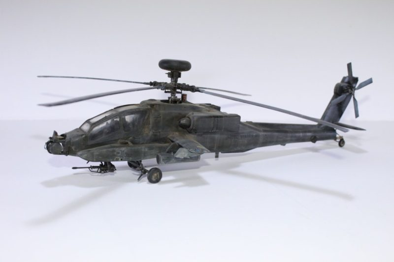 The finished Apache helicopter