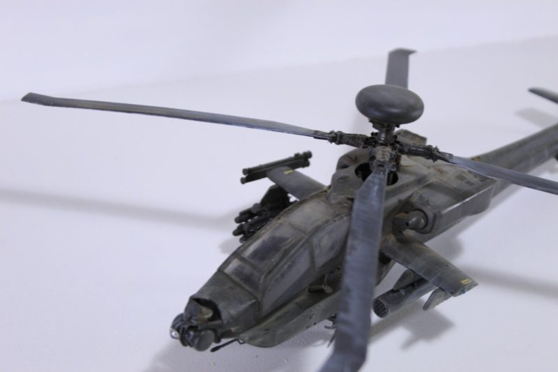 Academy Scale Model Apache Helicopter Viewed From Above.
