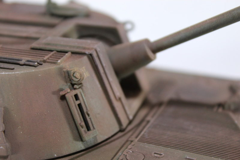 Close Up Details Of The M108 Turret