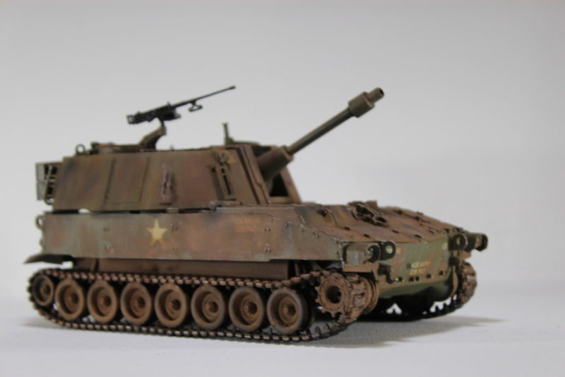 Finished And Weathered The Italeri 135th US Army M-108 105mm Howitzer