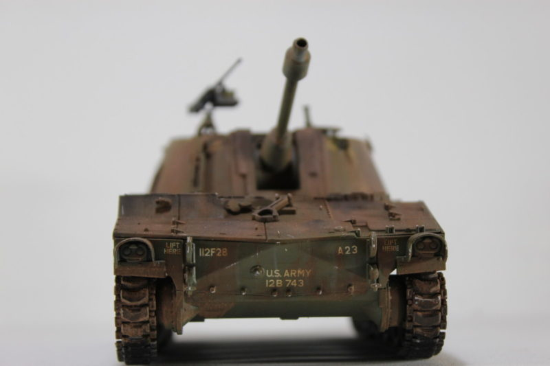 Finished And Weathered The Italeri 135th US Army M-108 105mm Howitzer Scale Model