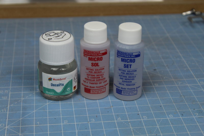Products which help with applying decals to scale models