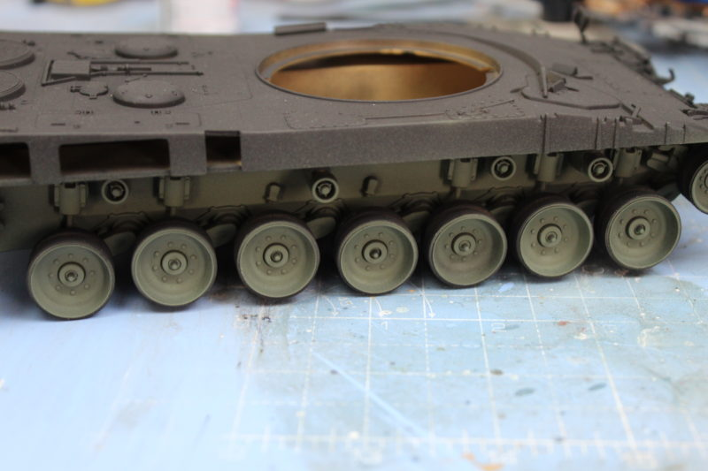 Fitted The Road Wheels And Nuts To The Leopard 2 Tank Model