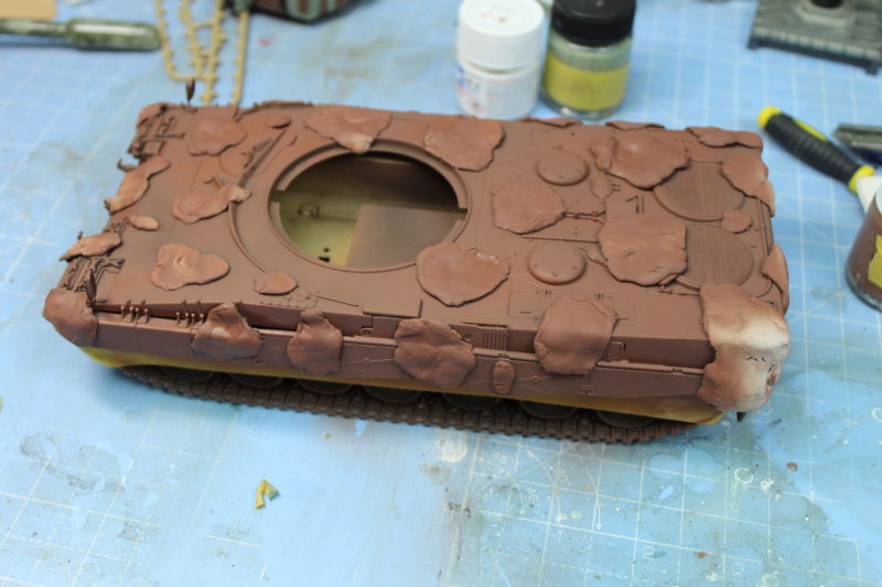 Sprayed The Tank Hull With Nato Brown