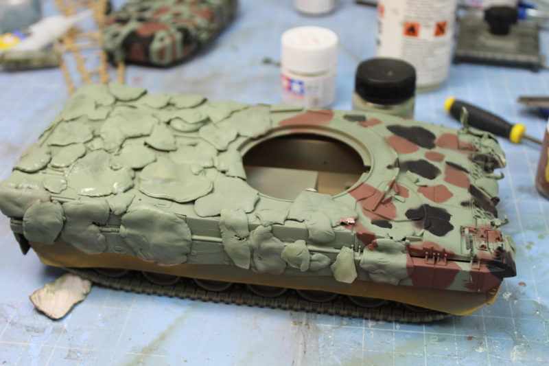 Leopard 2 Sprayed With Nato Green Paint