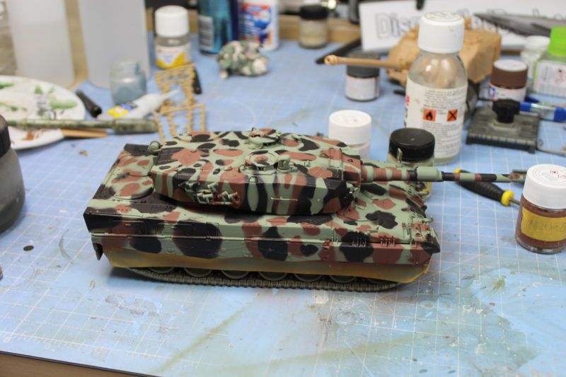 The Leopard 2 Scale Model Camouflage Finished