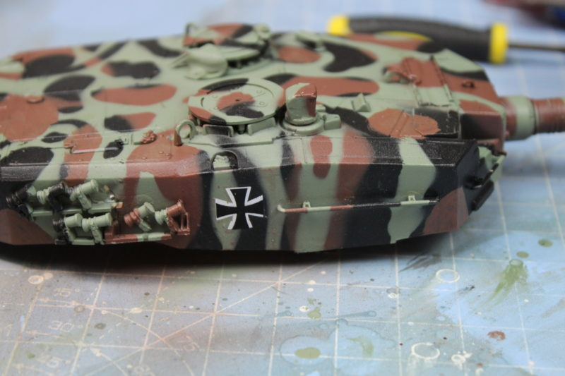 Decals Applied To The Leopard 2 Scale Model