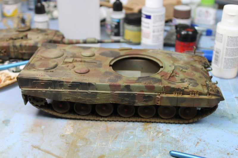 Applied Some Weathering Pigments To The Tank Model