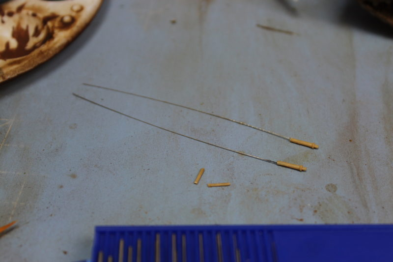 made some new aerials for the leopard 2 scale model tank with guitar wire