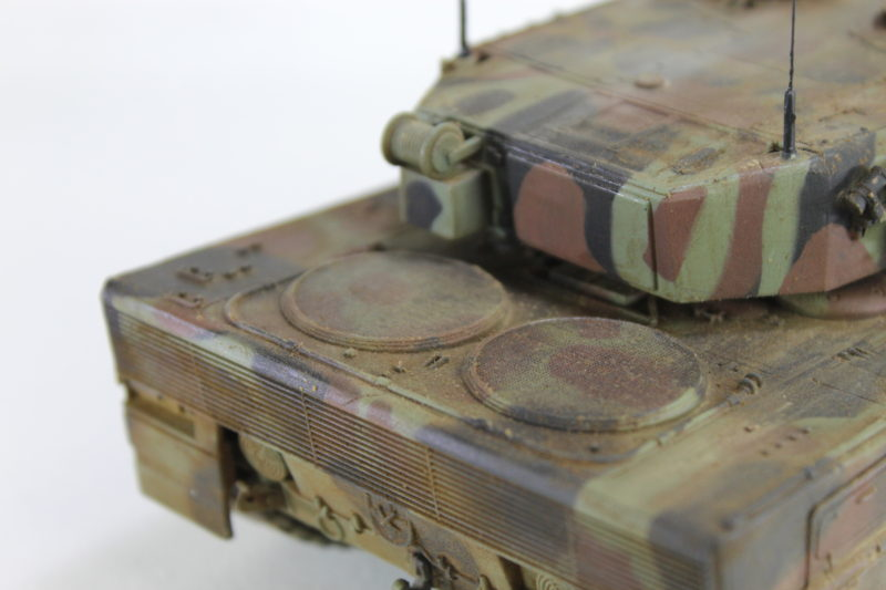 Close Up Details Of The Rear Of The Leopard 2.
