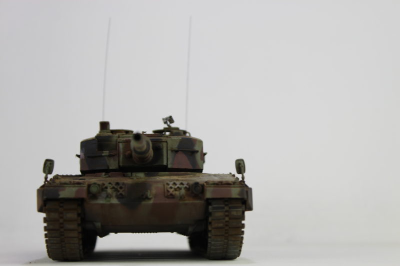The Front Of The Leopard 2 Tank Scale Model