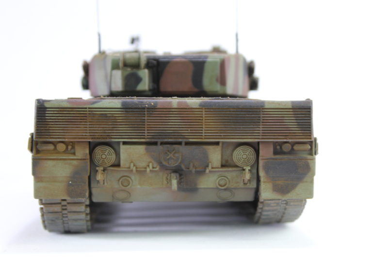 The Leopard 2 Scale Model Tank From The Rear