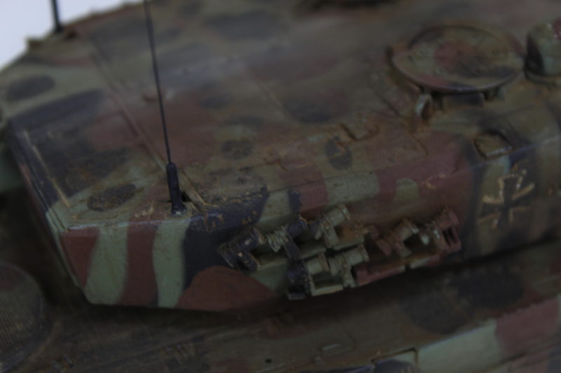 Close Up Detail On The Leopard 2 Turret