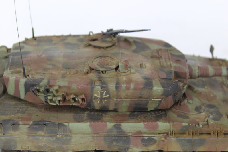 Close Up Of The Turret On The Leopard 2 Model Tank