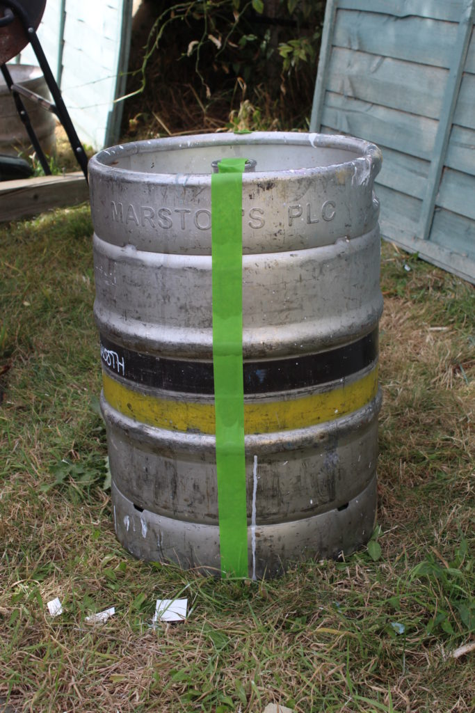Measured And Taped The Keg For Cutting