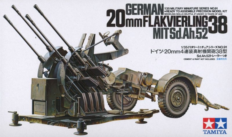 Tamiya German 2cm Flakvierling 38 135th Scale Model.