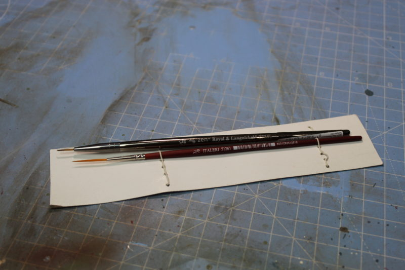 Two New Detail Paint Brushes For Scale Model Painting